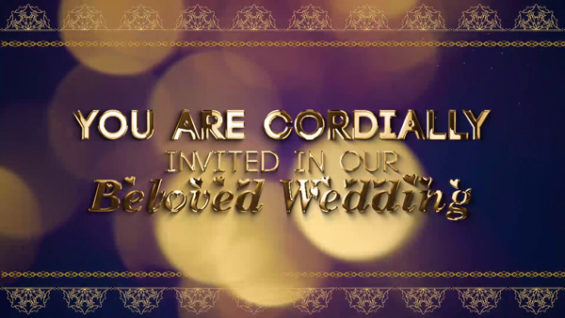 Short Whatsapp Wedding Invitation Title Video- Project MIW010018