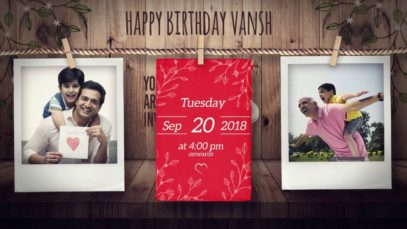 Rope roll Whatsapp Birthday Invitation – Project MIHBD02003