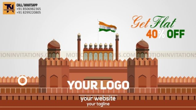 Indian Independance Day Republic Day Promotion Animation Project-MIF04004