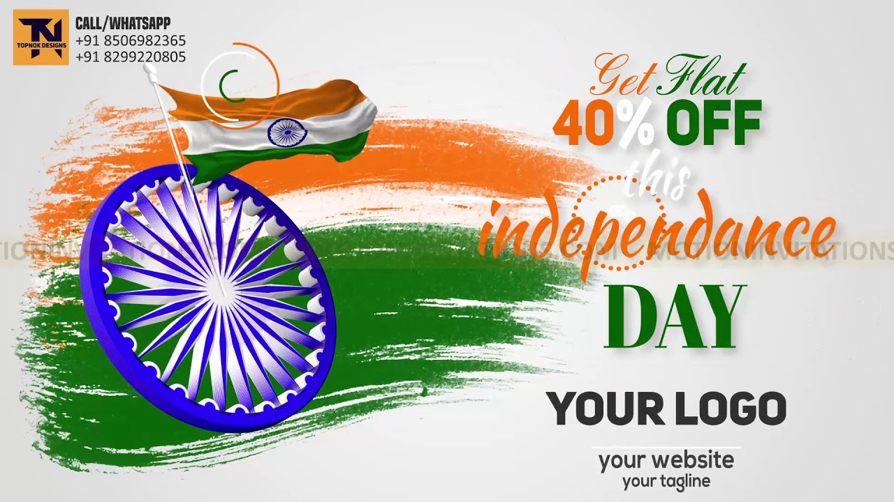 Indian Independence Day Republic Day Promotion Animation Project