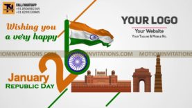 26th January Republic Day Animation project MIF04026