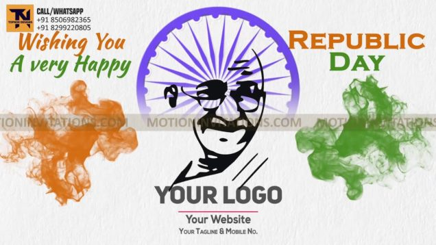Republic Day Animation Promotion project MIF04024