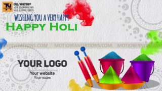 Holi ka Tyohar animation Promotion project MIF04028